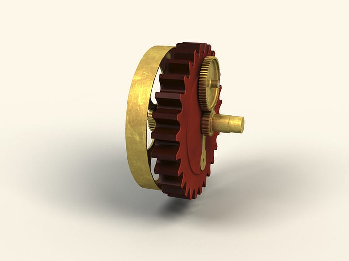 Epicyclic gear of arithmometer