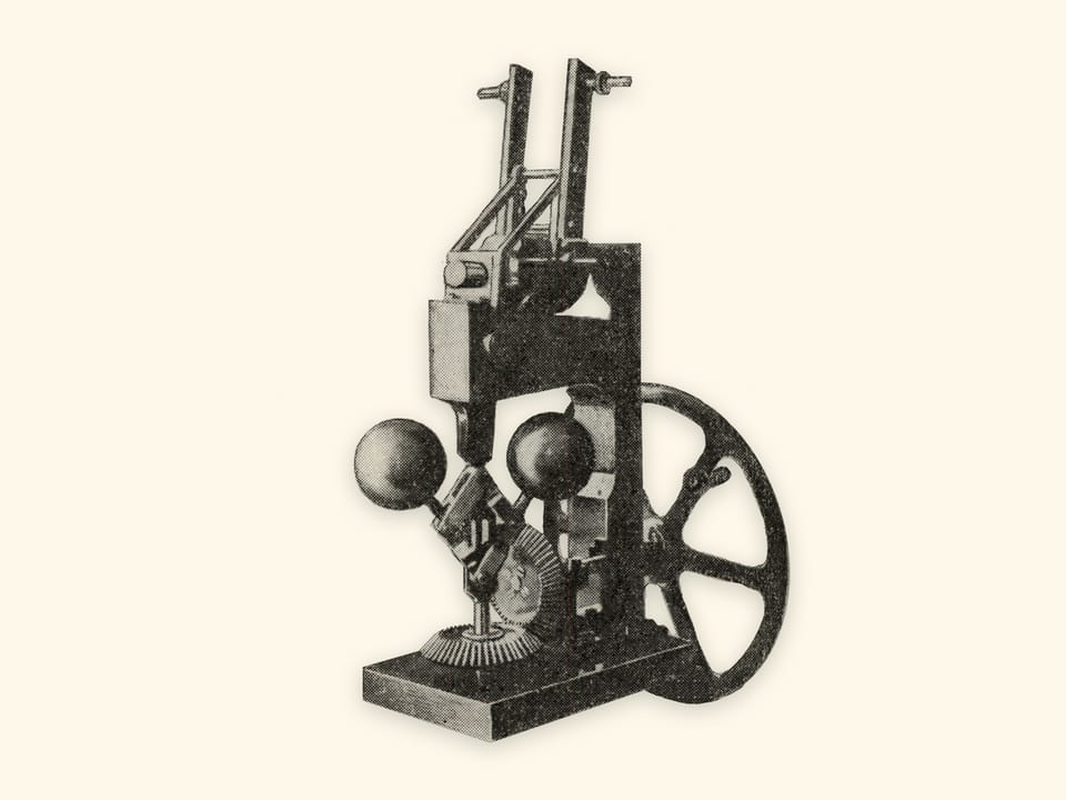 Mechanisms by P. L. Tchebyshev — Centrifugal governor — Model by Tchebyshev (reproduction)